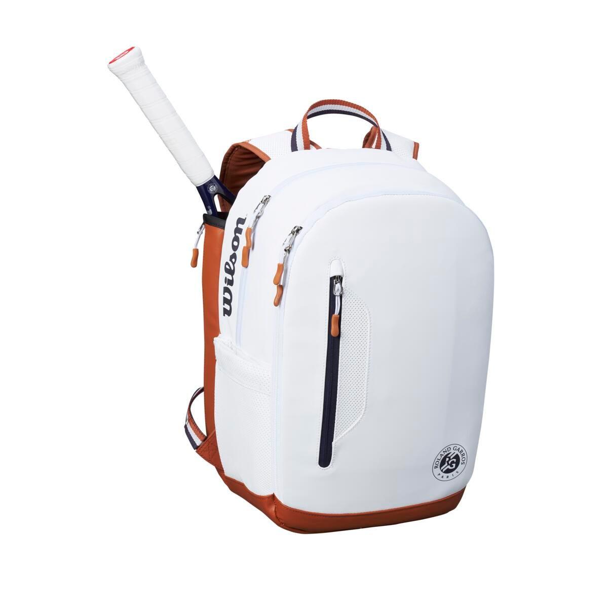 White Roland Garros Tennis Backpack