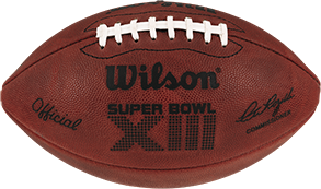 The football used in Super Bowl 13