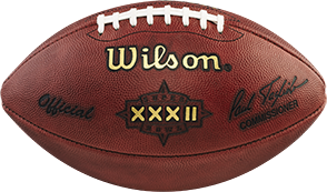 The football used in Super Bowl 32