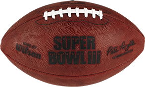 The football used in Super Bowl 3