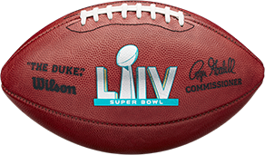 The football used in Super Bowl 54