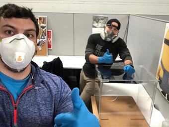 Wilson LABS engineer building aerosol box