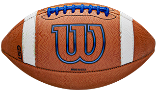 Prime and GST footballs showing logo details