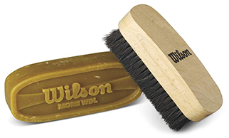 bar of football wax and a bristle brush