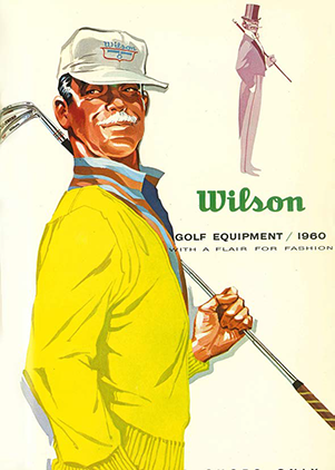 1960 ad with fashionable golfer ad