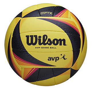closeup of the AVP OPTX volleyball