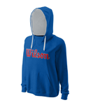 blue cotton hoodie with Wilson logo