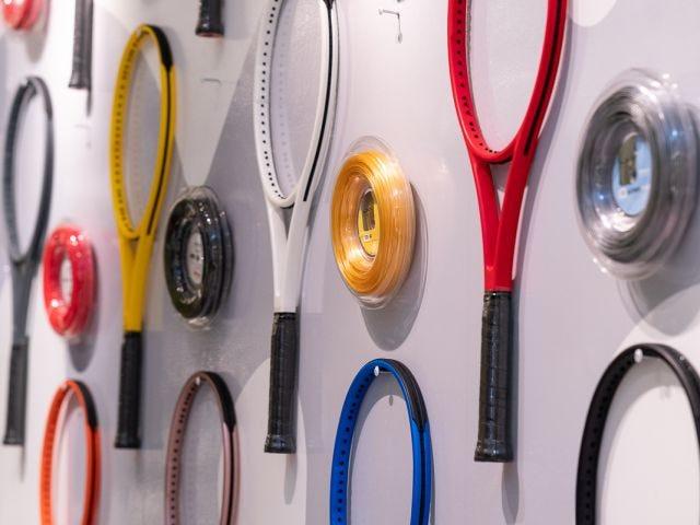 racket wall at NYC pop-up