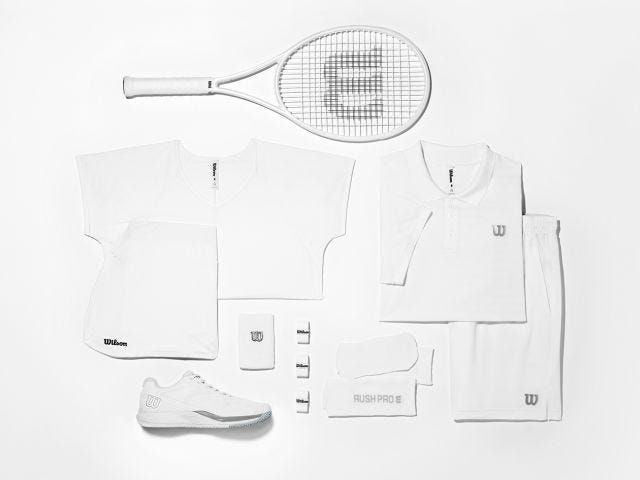 a drawing of tennis whites