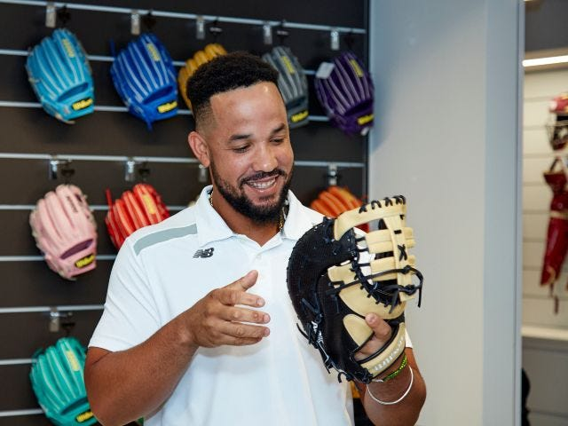 Abreu and his custom glove