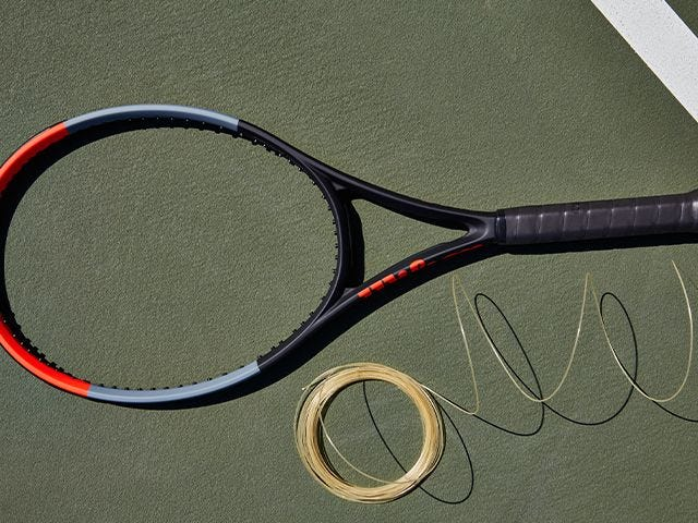 Racket and string set