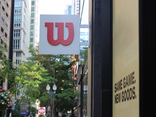Chicago street showing Wilson store sign