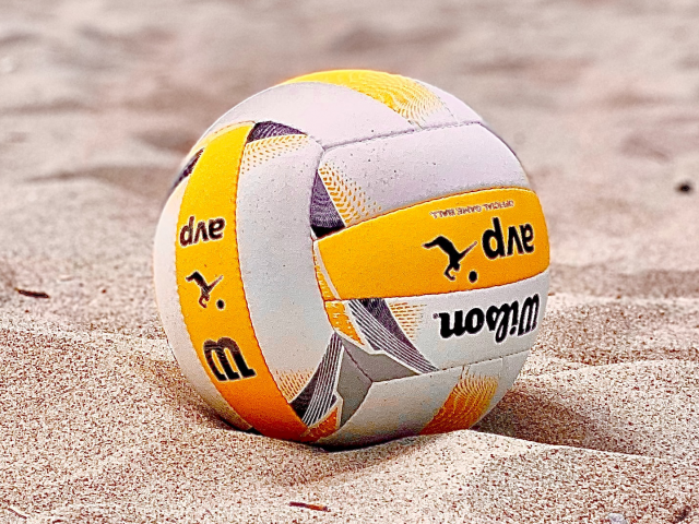 Wilson AVP volleyball in the sand