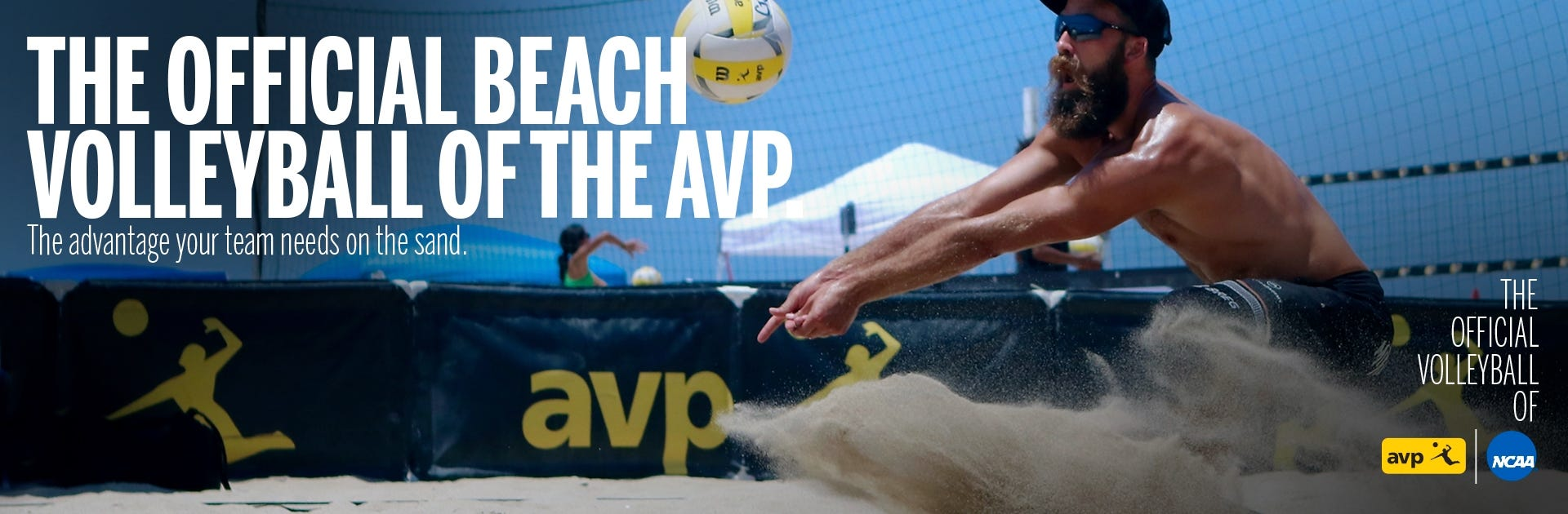 The official ball of AVP beach volleyball