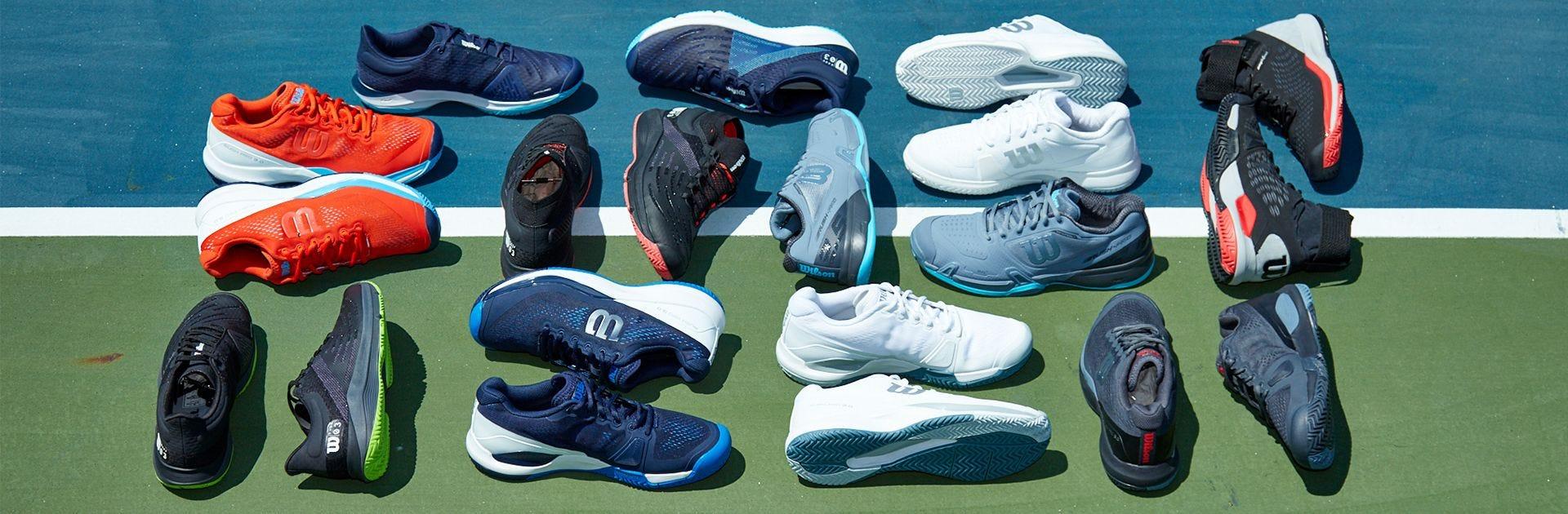 Wilson Men's Shoe Range on Tennis Court