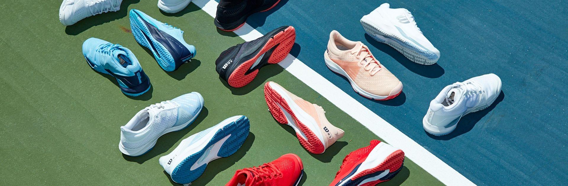 Wilson Women's Shoe Range on Tennis Court