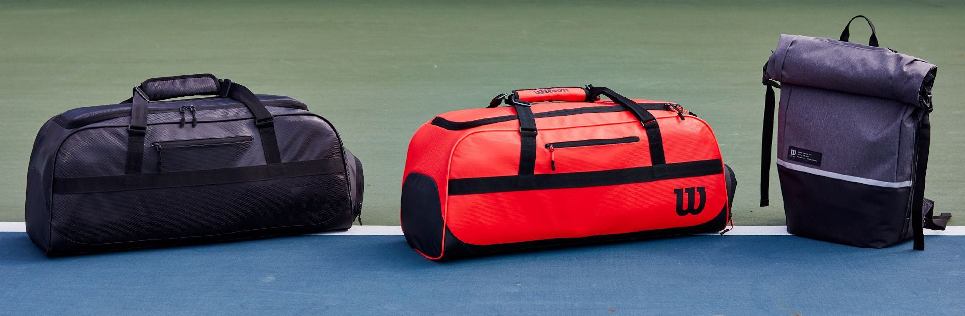 Lifestyle bags on tennis court