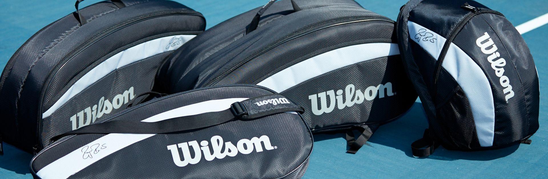 Recreation Bag Range laid on Tennis Court