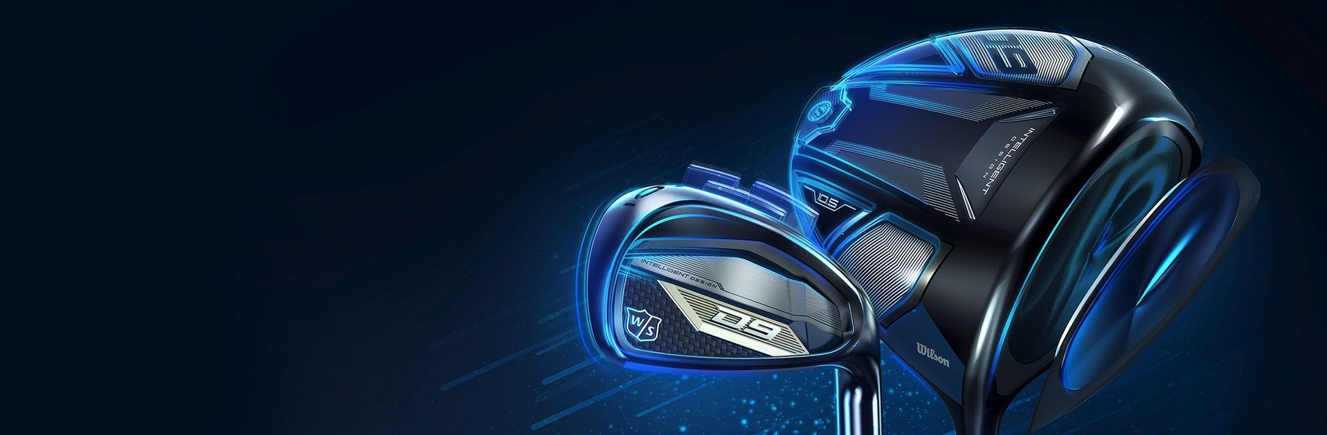 A close-up of the new D9 irons