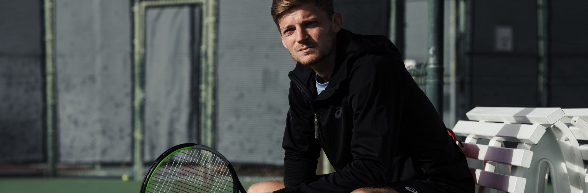 David Goffin on the tennis court