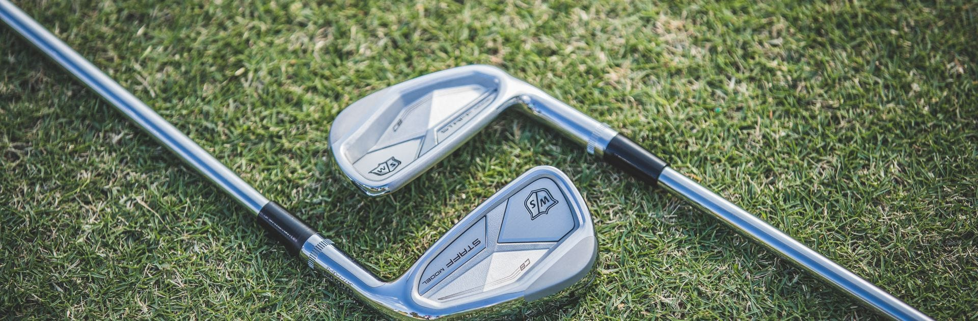 a close-up of the new CB Irons club heads