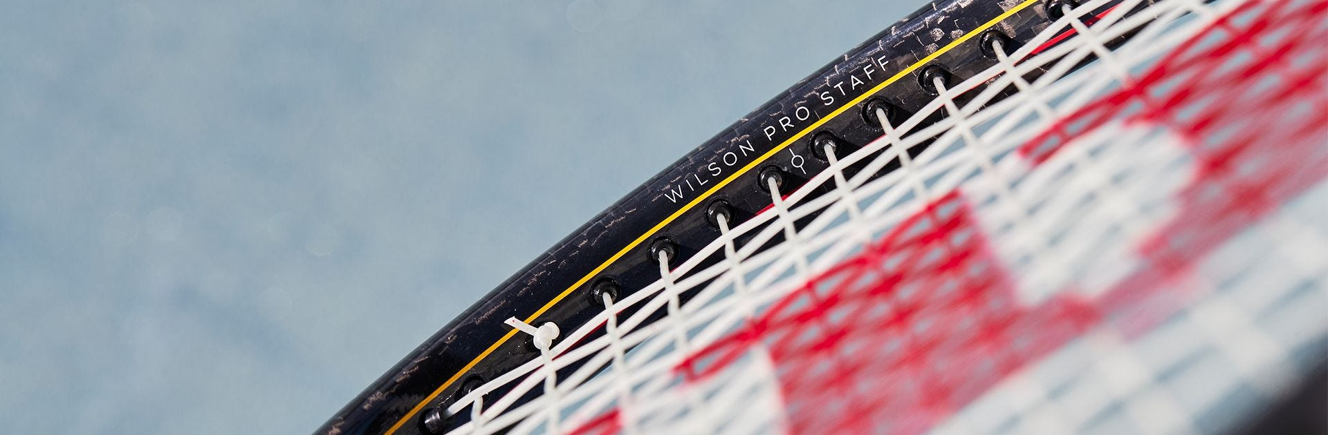 close-up of the Pro Staff V13 racket
