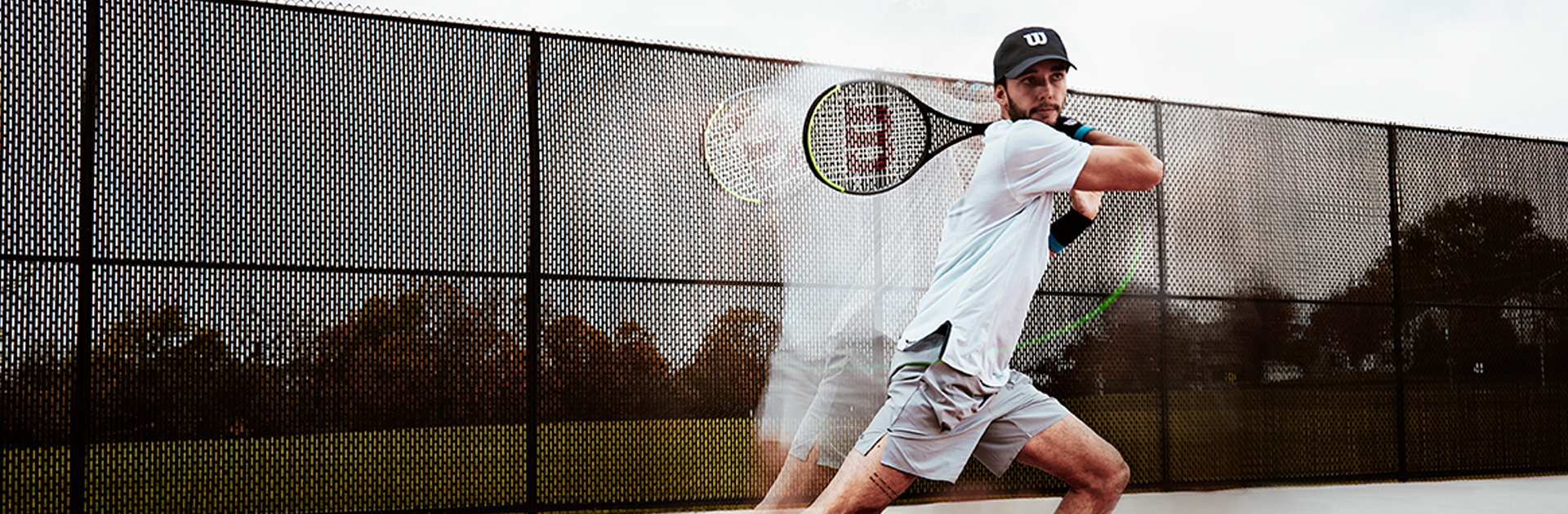 Tennis player photo in slow motion forehand