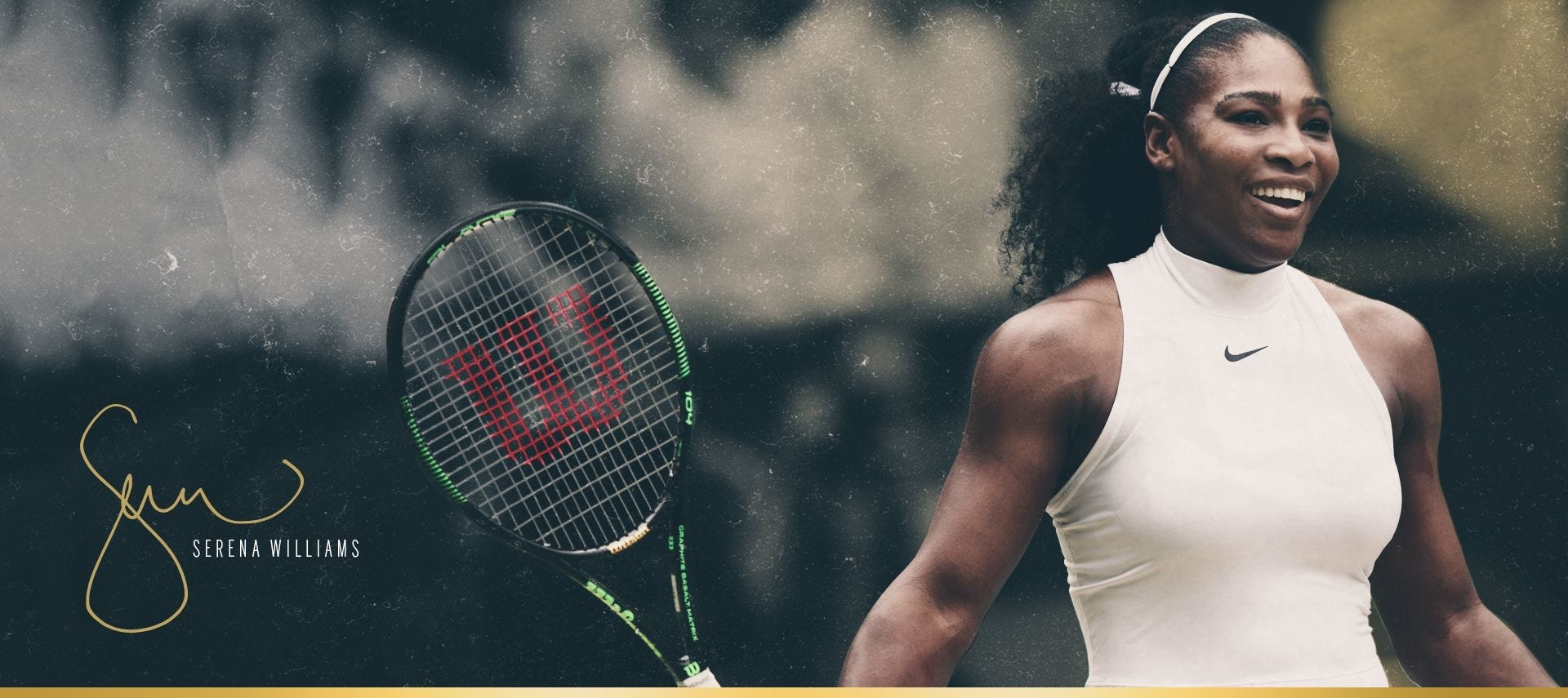 The Serena Williams Autograph Tennis Racket - Blade 104 - Wilson