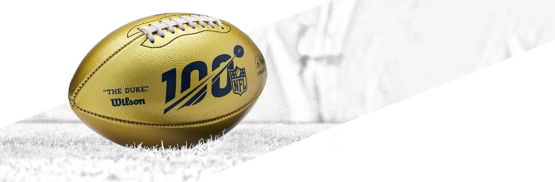 NFL Gold Football