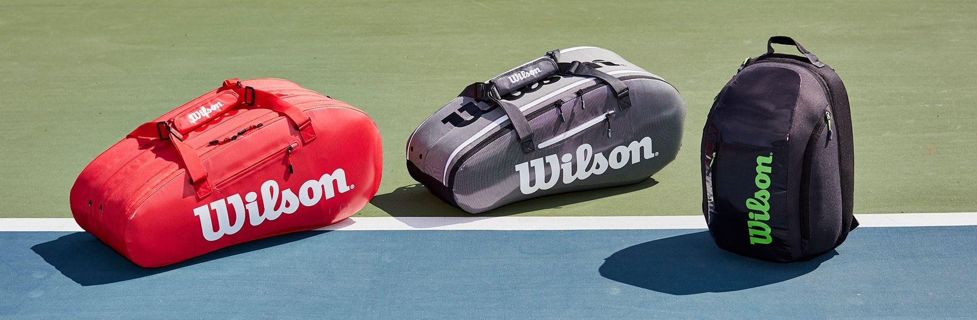 Tour Tennis Bag range on a tennis court