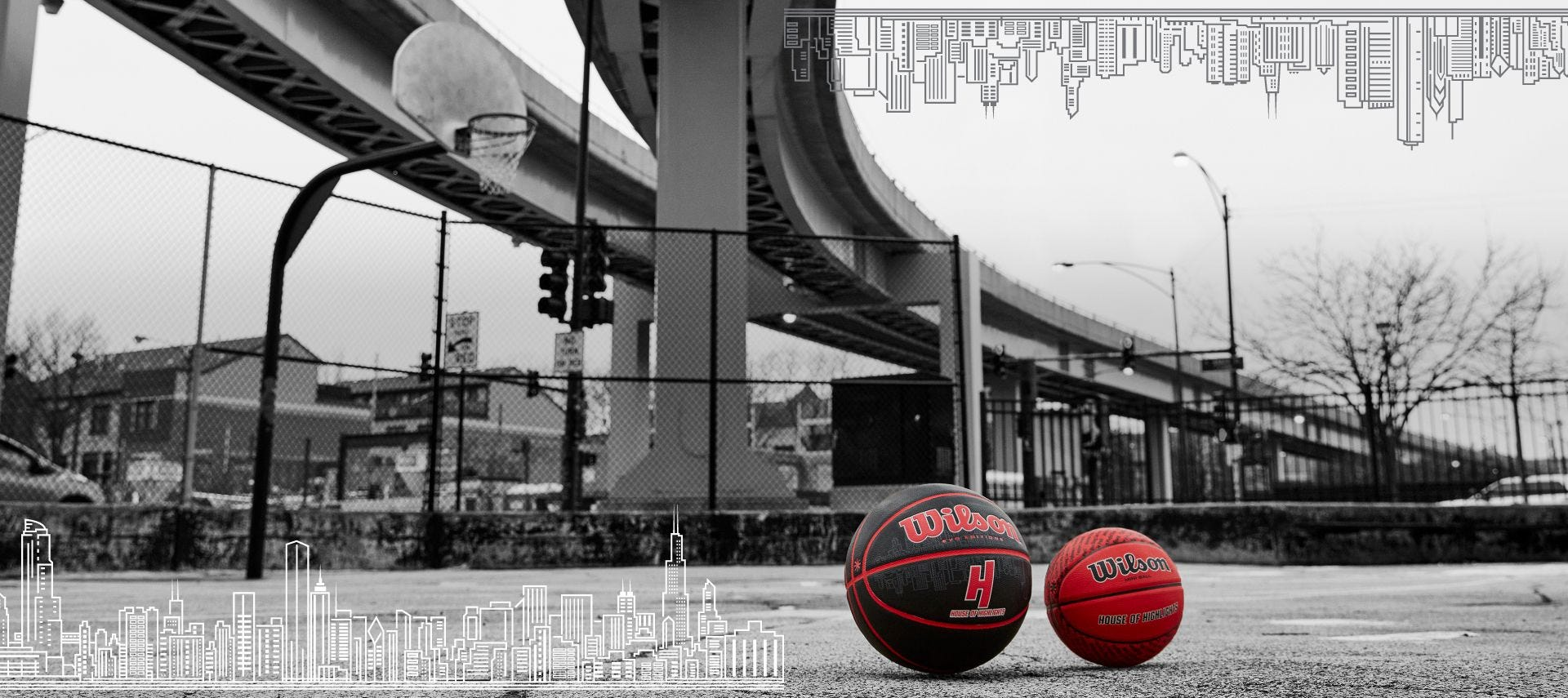 Wilson and House of HIghlights collab basketballs in red and black