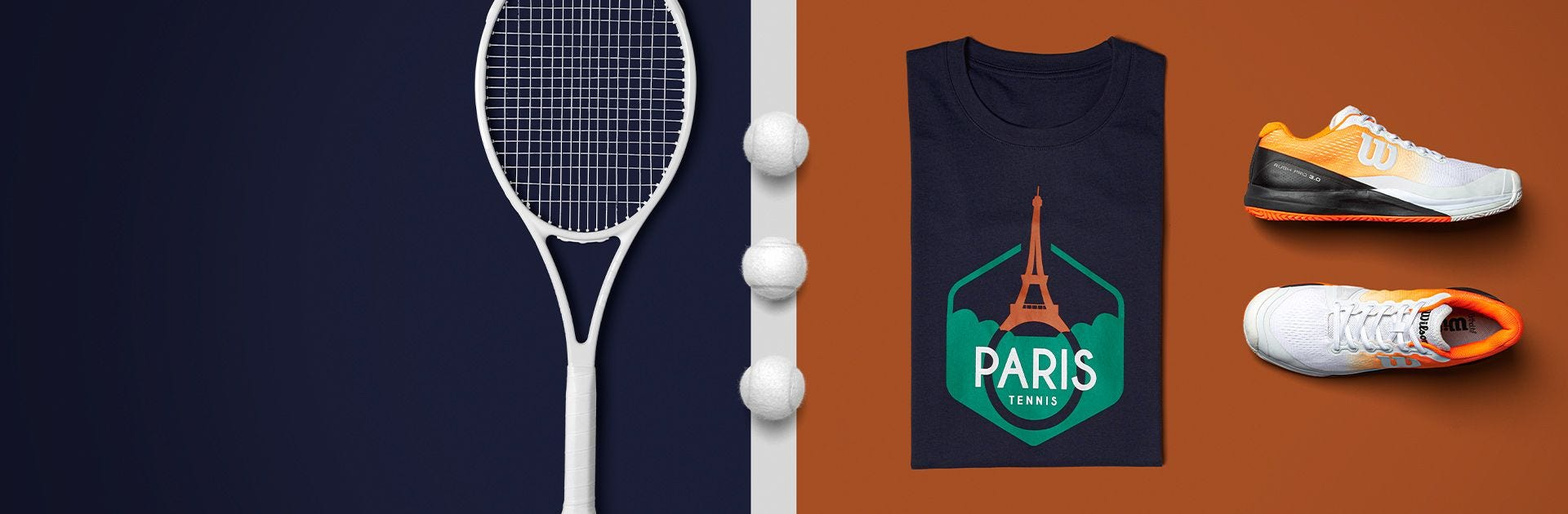 Paris collection of tennis items