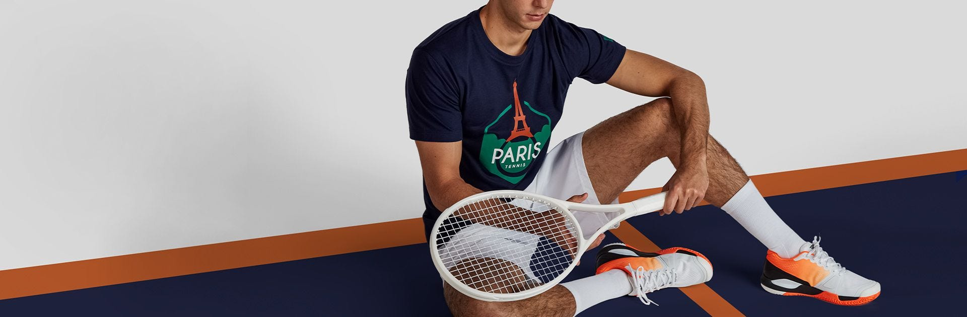 Paris collection t-shirt on tennis player