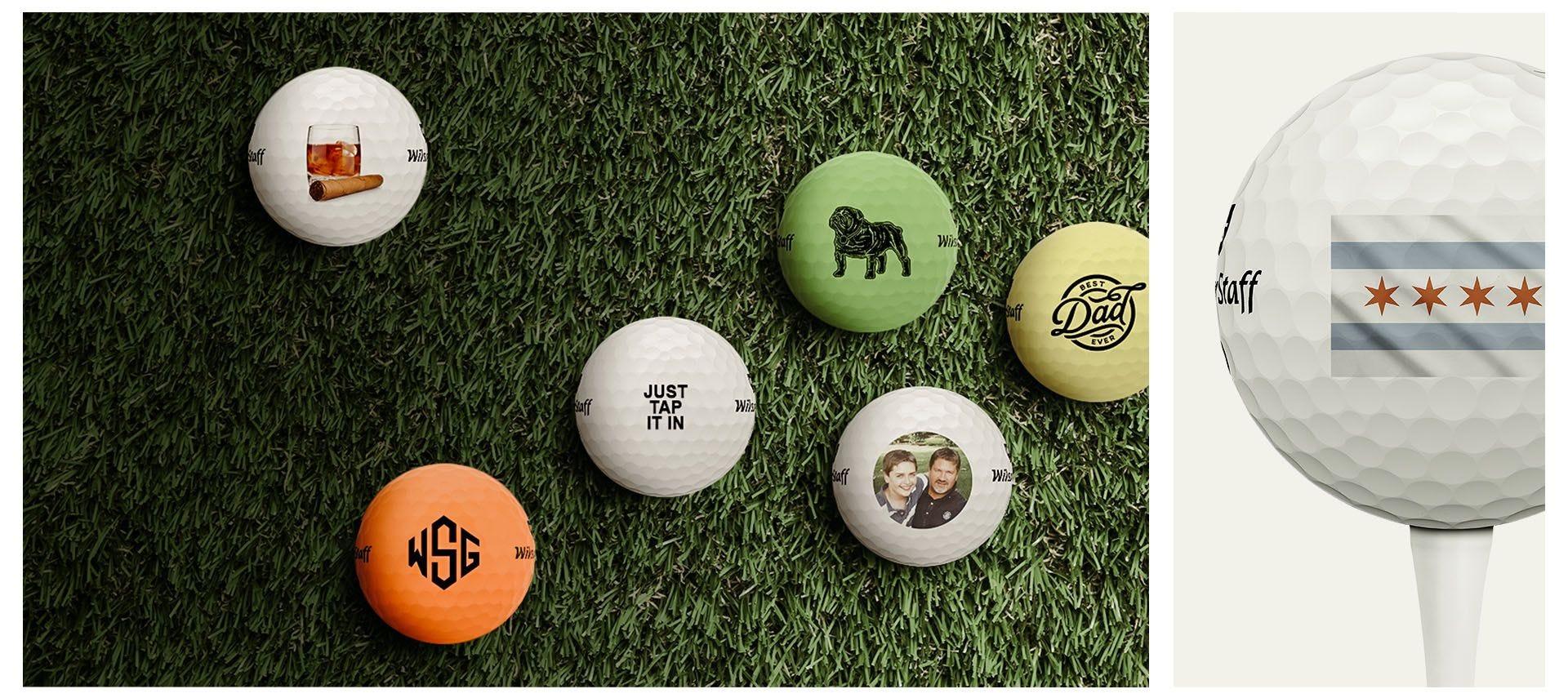 DUO Golf balls with custom logo upload graphics