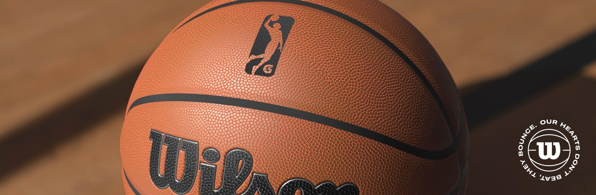 Close up of g-league basketball