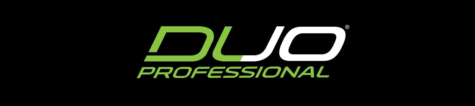 green duo professional logo on black background