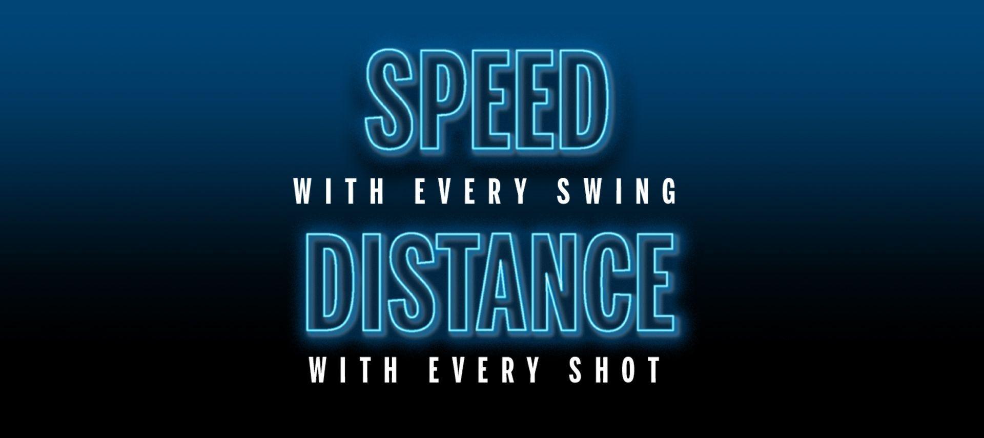 Geschwindigkeit bei jedem Schwung, Distanz mit jedem Schlag