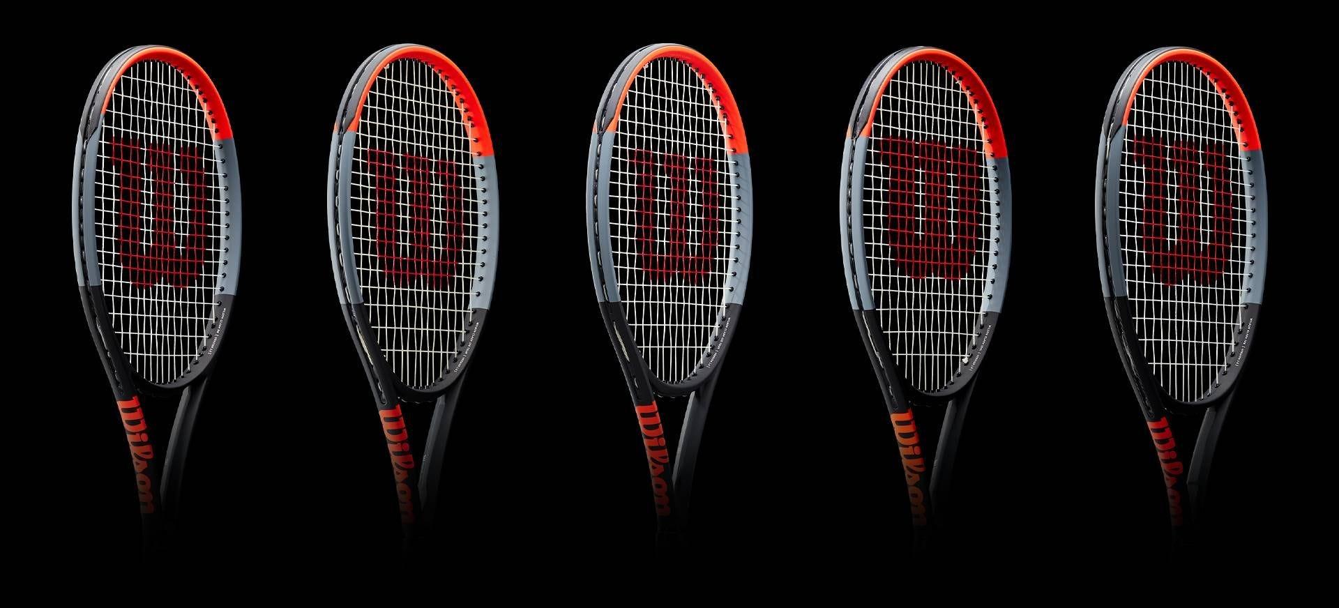Lineup of Clash Tennis Rackets