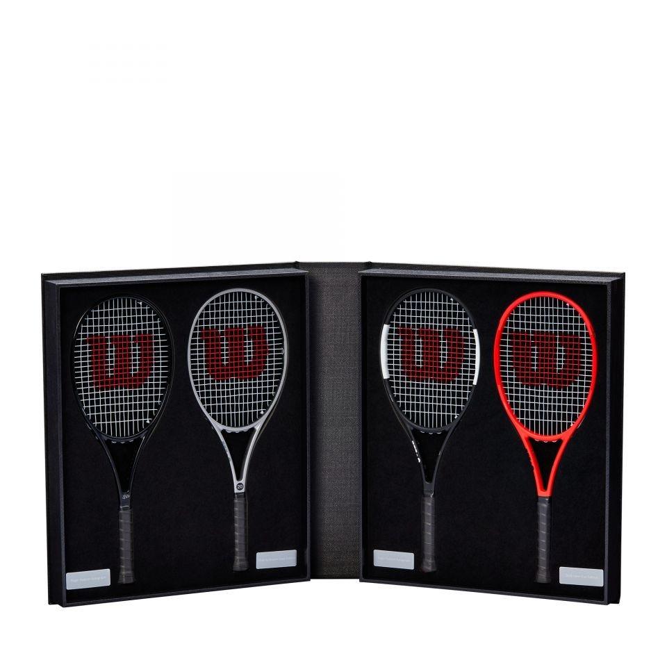 Mini racchette con la firma di Roger Federer, edizione limitata