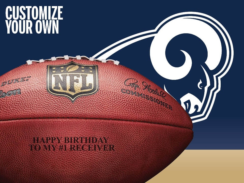 19b1e1f8a Custom NFL Los Angeles Rams Every Given Sunday Football.  79.99. Quick View