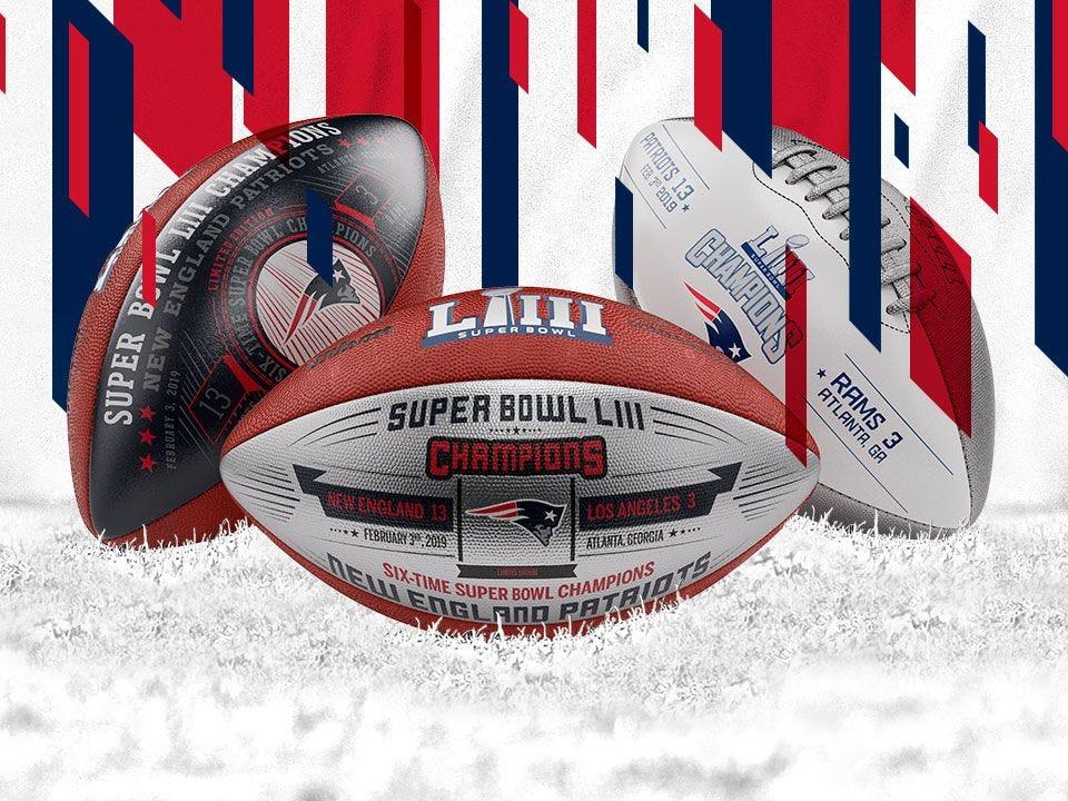 73f5b366 Shop Super Bowl LIII · Super Bowl LIII Commemorative Leather New England  Patriots Championship Football