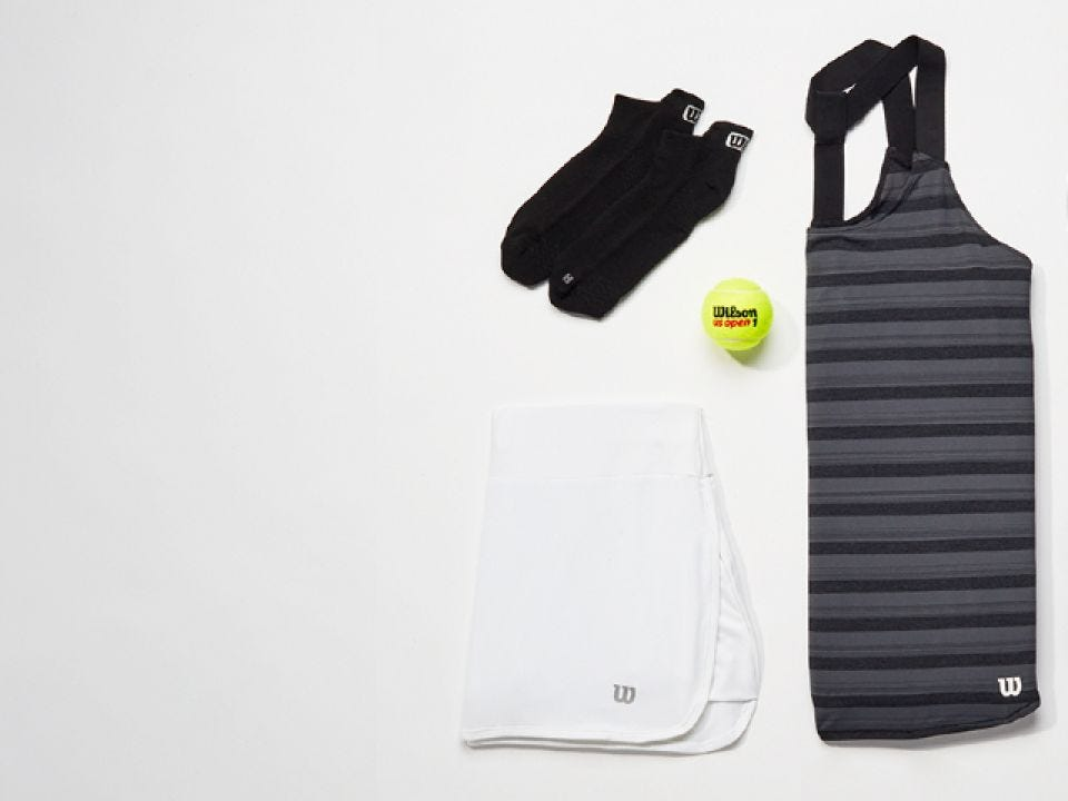 Control apparel laid out on table