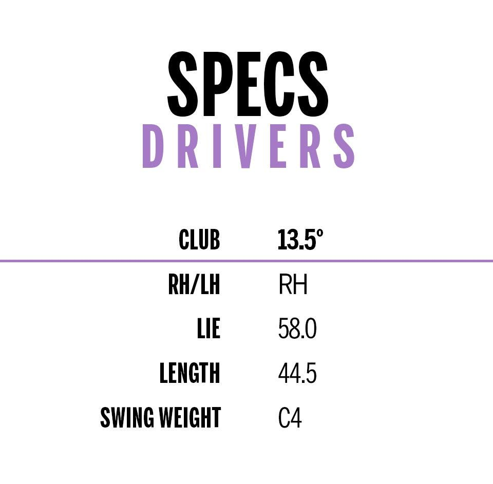 d7 womens driver specifications chart