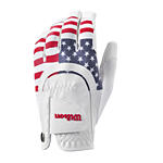 white batting glove with American flag motif