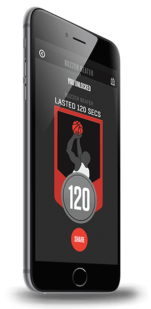 Wilson X Connected Basketball - Buzzer Beater App Screen